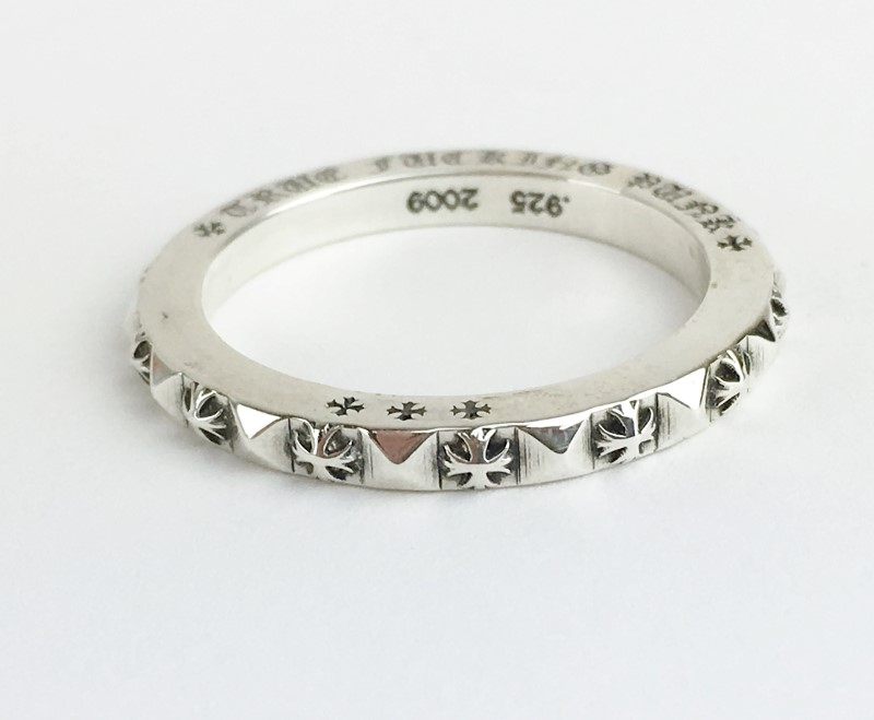 Chrome Hearts Sterling Silver Stackable Ring 6.21g Size:11 1/2