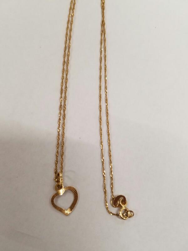 """22"""" Gold Rope Chain 14K Yellow Gold 1.14g"""