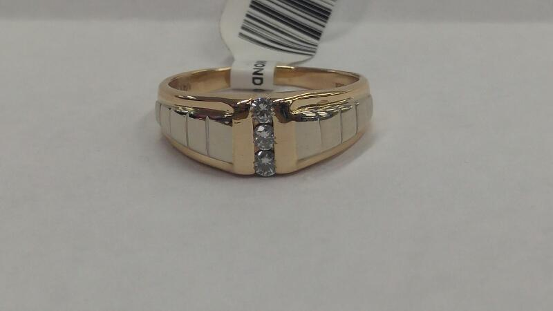 DIAMOND Gent's Gold-Diamond Wedding Band 3RD_DIA_APPX.20CTTW