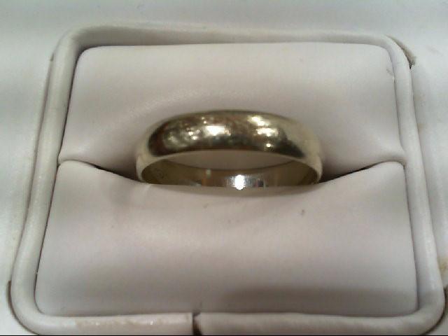 Gent's Gold Wedding Band 14K White Gold 2.4g