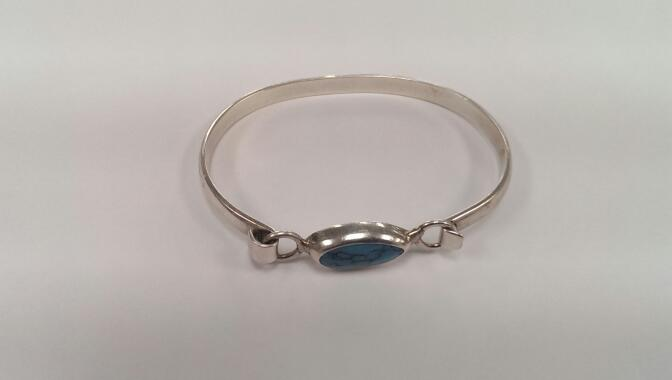 Turquoise Silver Bracelet 925 Silver 16.8g
