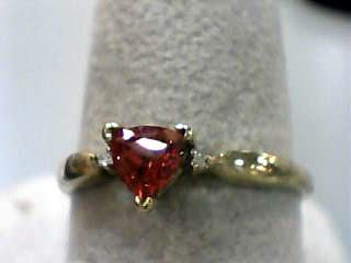 Orange Stone Lady's Stone Ring 10K Yellow Gold 0.7dwt Size:8.7