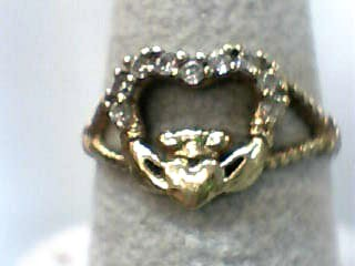 Lady's Diamond Fashion Ring 9 Diamonds .09 Carat T.W. 10K Yellow Gold 1dwt