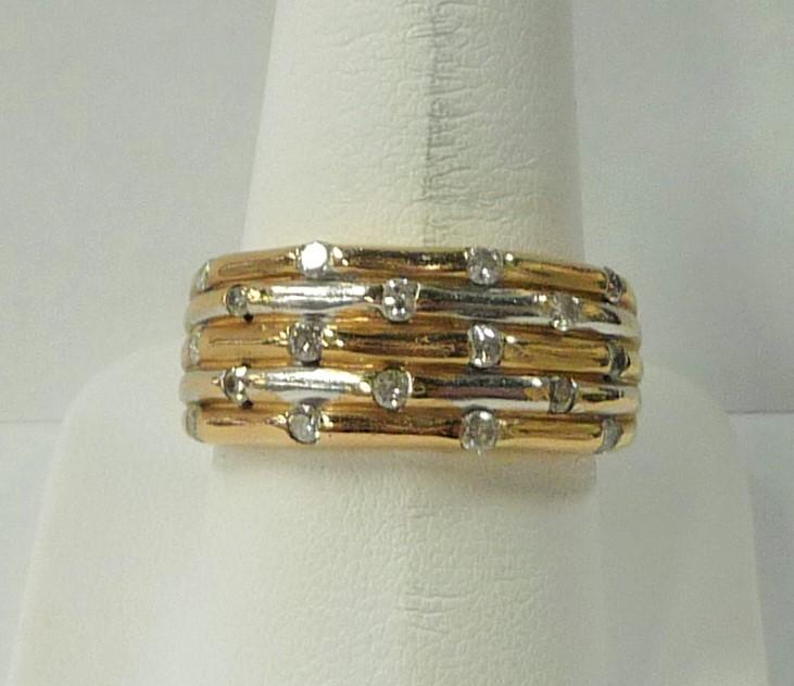 Gent's Diamond Fashion Ring 18 Diamonds .72 Carat T.W. 10K Yellow Gold 3.32dwt
