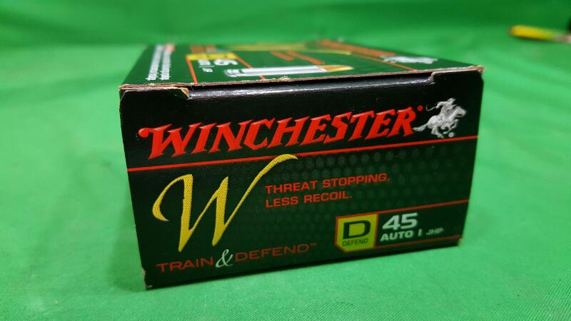 Winchester .45 Auto 230-Grain Train and Defend Handgun Ammunition