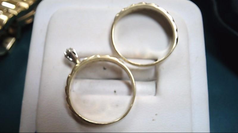 Lady's Diamond Wedding Set 18 Diamonds .19 Carat T.W. 10K Yellow Gold 4g Size:7