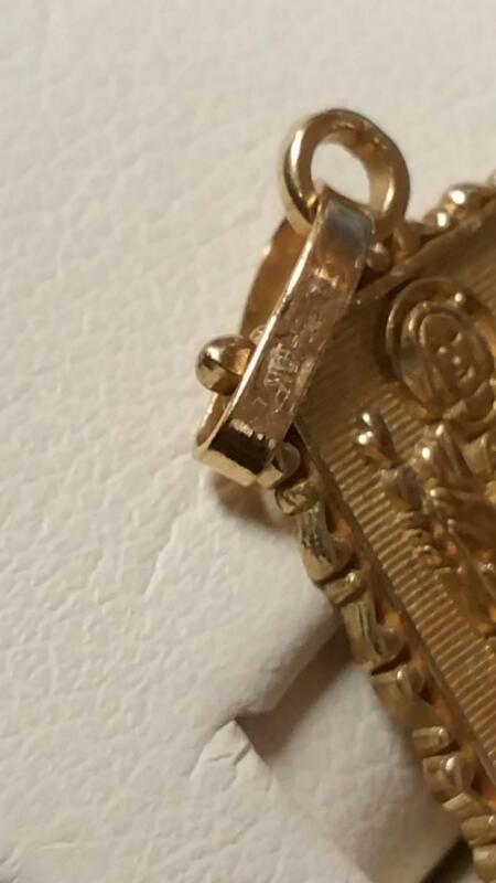 Gold Pendant 10K Yellow Gold 1.1dwt