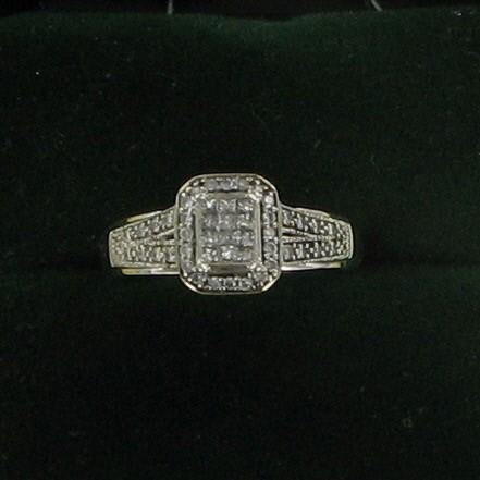 Lady's Diamond Fashion Ring 47 Diamonds .59 Carat T.W. 10K White Gold 2.1dwt