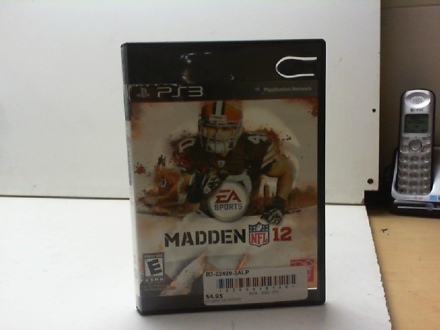 SONY Sony PlayStation 3 Game MADDEN NFL 12 - PS3