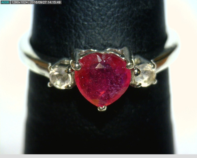 Ruby Lady's Silver & Stone Ring 925 Silver 1.22dwt Size:6