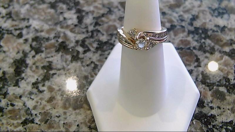 Lady's Diamond Wedding Set 13 Diamonds 1.25 Carat T.W. 14K Yellow Gold 8.1g