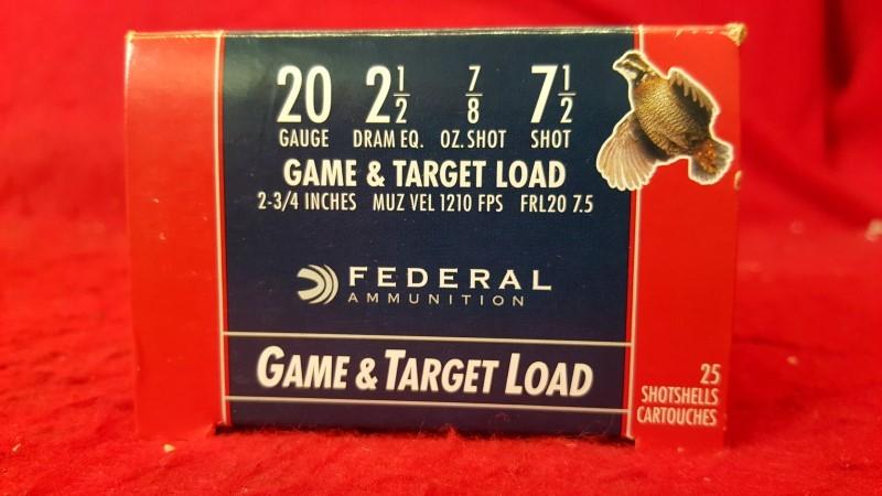 FEDERAL AMMUNITION Ammunition 20 GAUGE GAME LOAD