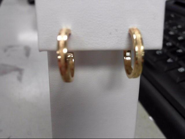 Gold Earrings 14K Yellow Gold 2.6g