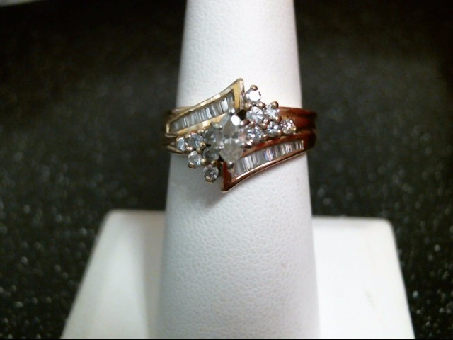 Lady's Diamond Cluster Ring 39 Diamonds .96 Carat T.W. 14K Yellow Gold 5.8g