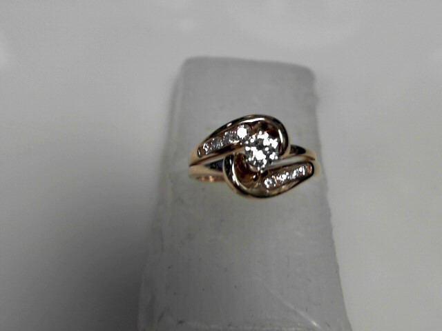 Lady's Diamond Engagement Ring 9 Diamonds .41 Carat T.W. 14K Yellow Gold 3.46g