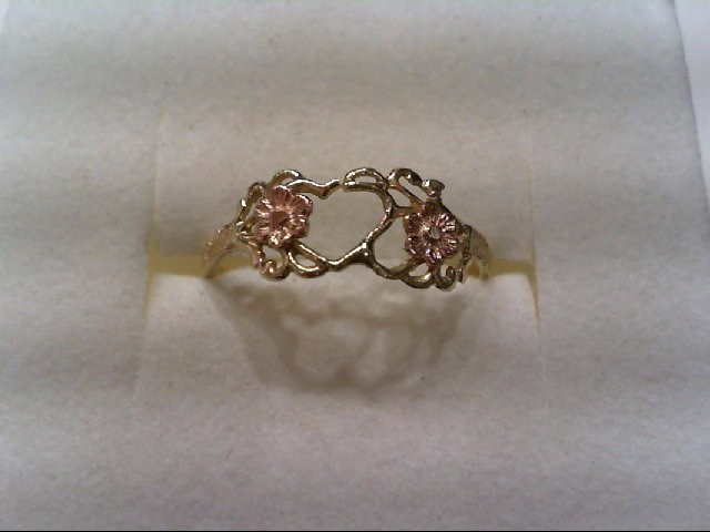 Lady's Gold Ring 10K 2 Tone Gold 1.2g