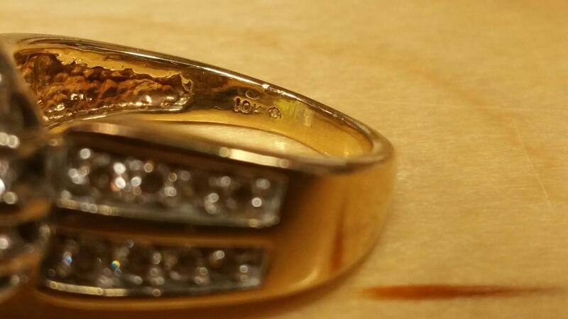 Lady's Diamond Cluster Ring 41 Diamonds .82 Carat T.W. 10K Yellow Gold 3.4dwt