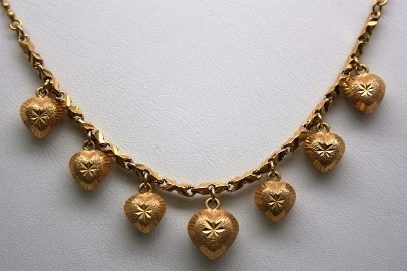 """18"""" FASHION NECKLACE 22K YELLOW GOLD 9.8g"""