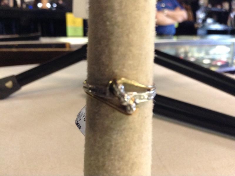 Lady's Diamond Fashion Ring 13 Diamonds .13 Carat T.W. 10K Yellow Gold 1.5g