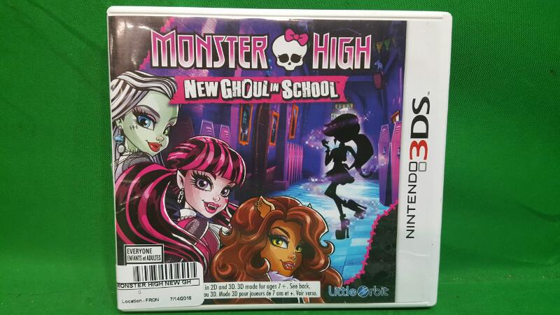 NINTENDO Nintendo 3DS Game MONSTER HIGH NEW GHOUL IN SCHOOL