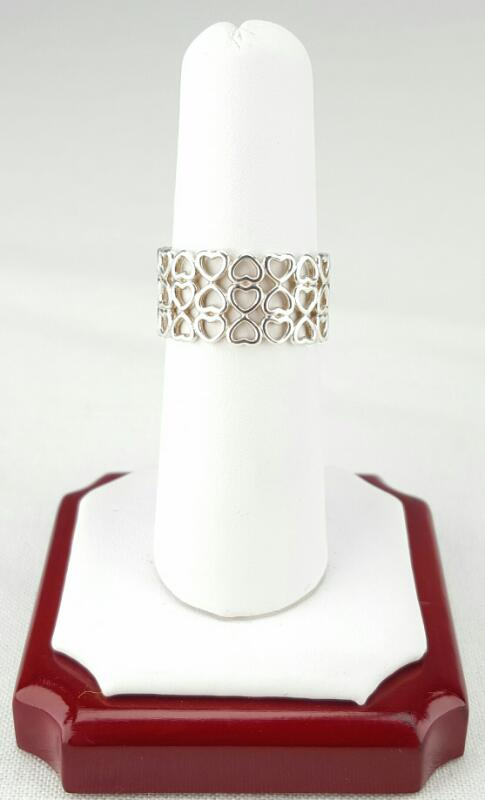 Tiffany & Co. Paloma Sterling Silver Picasso Crown Of Hearts Ring Size 7
