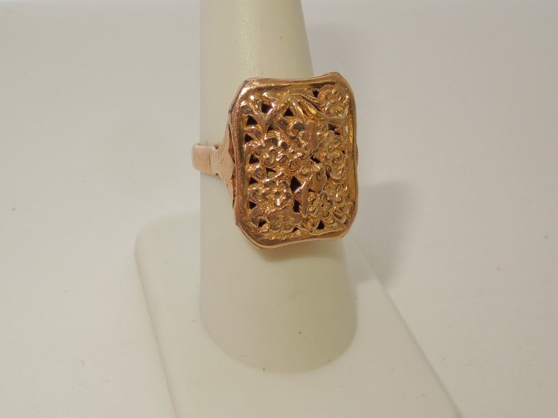 Lady's Gold Ring 18K Yellow Gold 7.3g