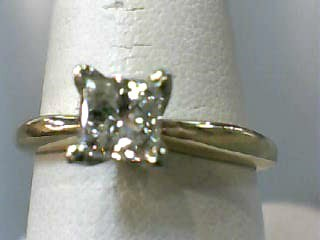 Lady's Diamond Solitaire Ring .73 CT. 14K Yellow Gold 2.1dwt Size:7.3