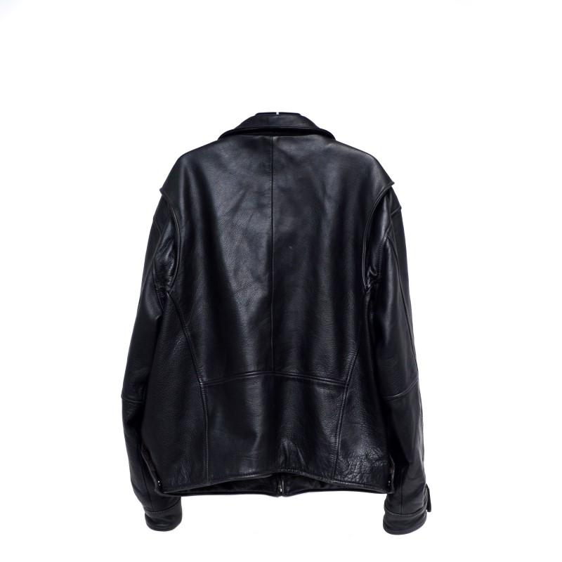 St. John's Bay Genuine Leather Jacket Mens Size XL Black >