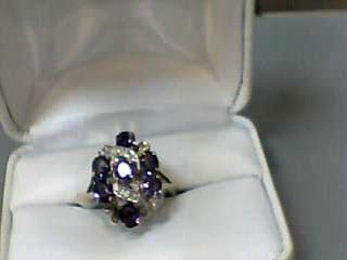 Amethyst Lady's Stone Ring 10K Yellow Gold 2.6dwt