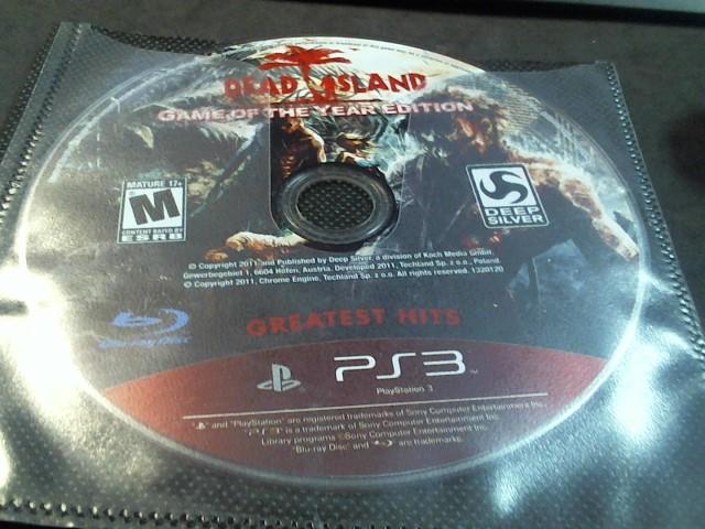 SONY PS3 DEAD ISLAND