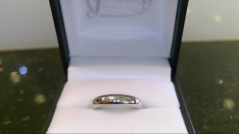 14k white gold size 7 wed band