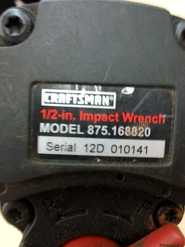 CRAFTSMAN Air Impact Wrench IMPACT WRENCH