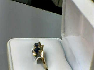 Sapphire Lady's Stone Ring 14K Yellow Gold 2.1dwt Size:9