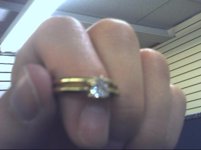 Lady's Diamond Wedding Band .22 CT. 18K Yellow Gold 2.8dwt Size:4.7