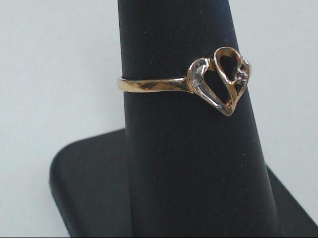 Lady's Diamond Engagement Ring .01 CT. 10K Yellow Gold 1.2g Size:6.8