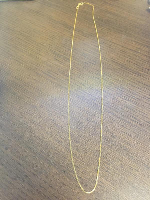 "20"" Gold Box Chain 14K Yellow Gold 2.2g"