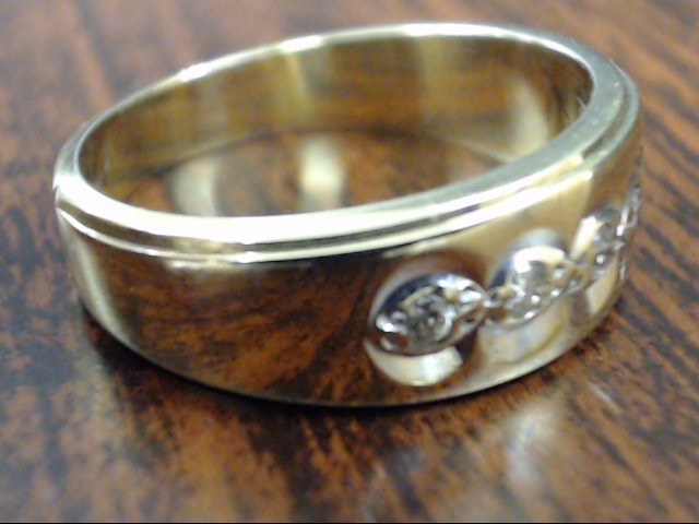 VINTAGE DIAMOND WED ANNIVERSARY RING BAND SOLID REAL 10K GOLD SZ 5