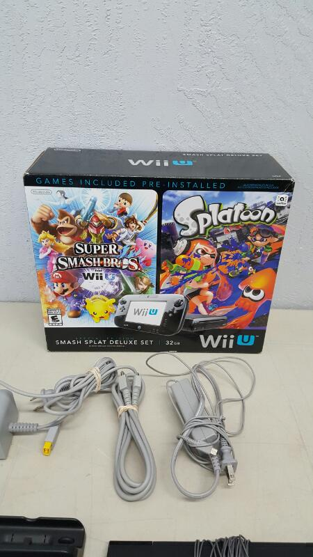 Nintendo Wii U Smash Splat Deluxe Set 32 GB Black Handheld System