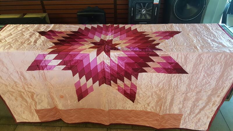 American Indian Blanket/Rug NATIVE AMERICAN STAR QUILT
