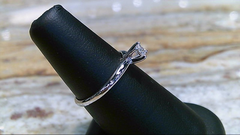 Lady's Diamond 1/5 CT 10K White Gold Engagement Ring SZ 7