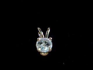 Gold-Diamond Solitaire Pendant .20 CT. 14K Yellow Gold 0.02g