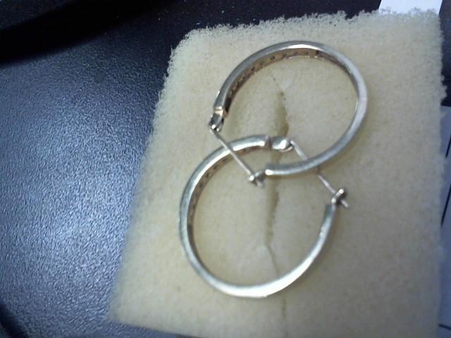 Gold-Diamond Earrings 18 Diamonds .18 Carat T.W. 10K Yellow Gold 2.7g