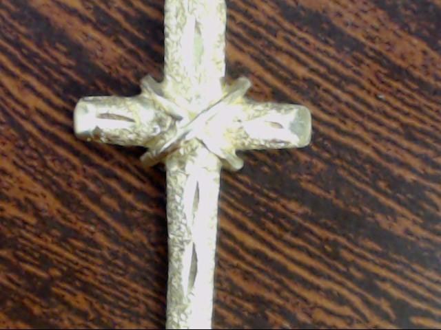 VINTAGE CROSS PENDANT CHARM SOLID REAL 14K GOLD JESUS CHRIST EASTER