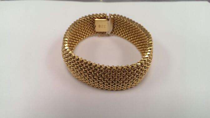 Gold Fashion Bracelet 14K Yellow Gold 39.8g