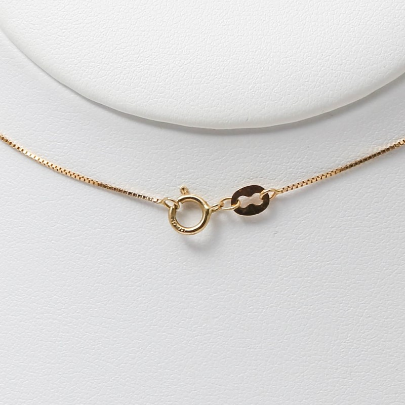 14K Twisting White & Yellow Gold Round Brilliant Diamond Necklace
