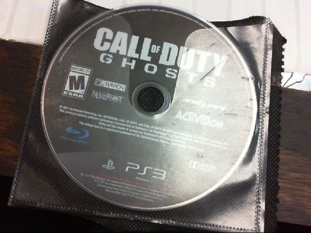 SONY PS3 CALL OF DUTY GHOSTS