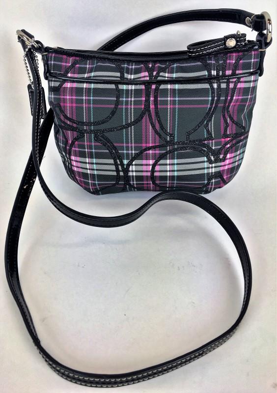 COACH SATIN CROSSBODY SHOULDER BAG
