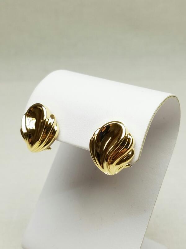 Tiffany & Co. Gold Shell Earrings 18K Yellow Gold 11.7g