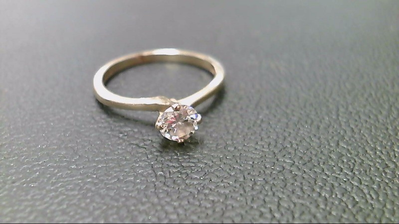 Lady's Diamond Solitaire Ring .40 CT. 10K Yellow Gold 2.1g