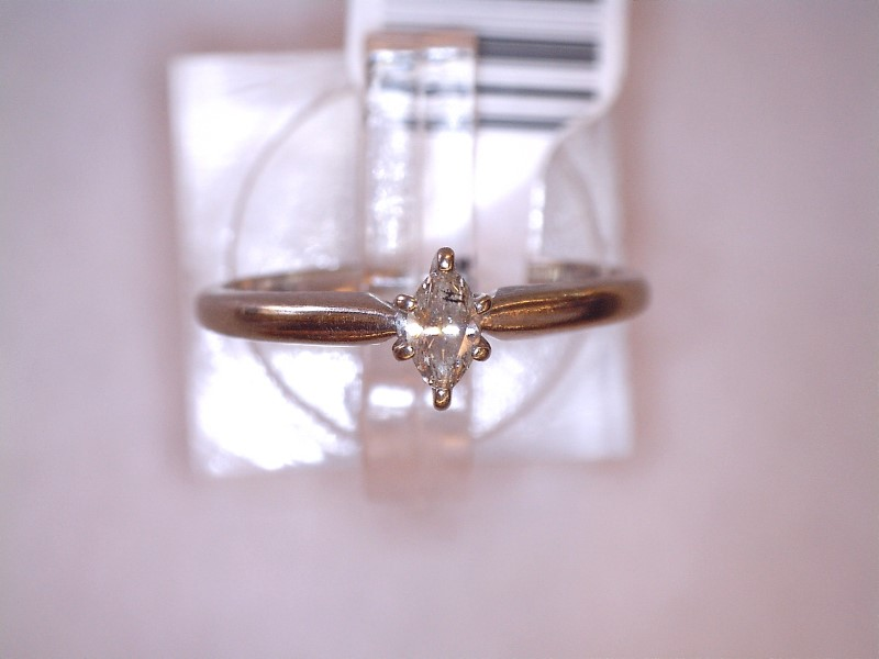 Lady's Diamond Solitaire Ring .15 CT. 14K White Gold 1.4dwt Size:7